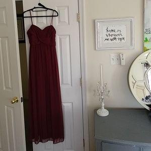 Davids Bridal Wine maxi dress